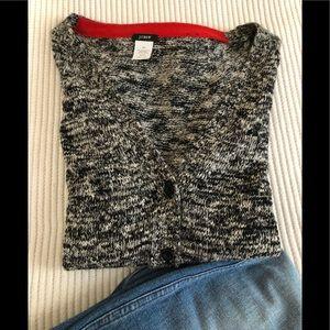 Jcrew xs black white sweater